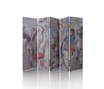 Manhattan Moveable folding screen by Neue Wiener Werkstätte