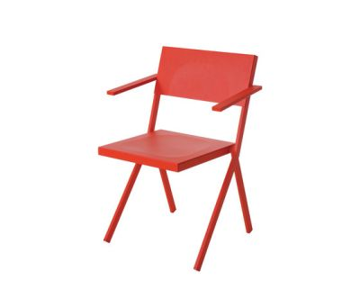 Mia armchair - set of 4 Scarlet Red