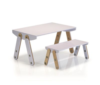 Milky Desk & Bench by GAEAforms