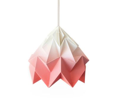 Moth Lamp - Gradient Coral by Studio Snowpuppe