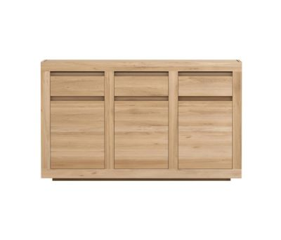 Oak Flat Sideboard 3 doors - 3 drawers