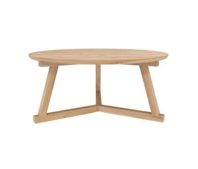 Oak Tripod coffee table 90 x 90 x 40 cm