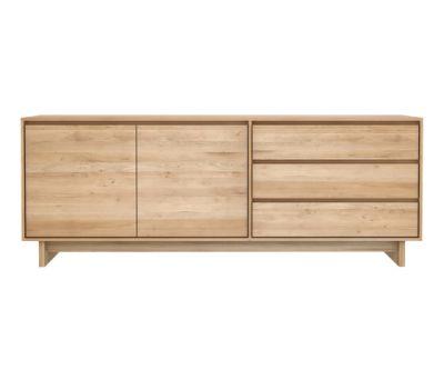 Oak Wave sideboard - 2 door - 3 drawers