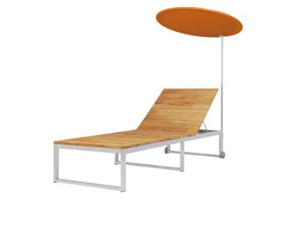Oko sun lounger with shade by Mamagreen