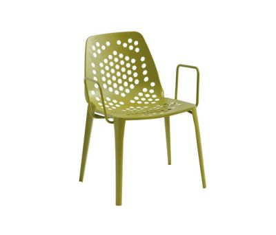 Pattern armchair - set of 2 Green