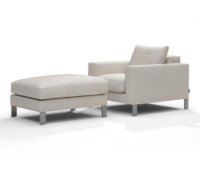 Plaza armchair/footstool by Linteloo