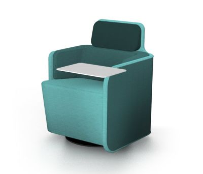 PodSeat with low backrest & table by Martela Oyj