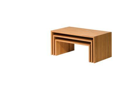 ponte set of three coffee table by TEAM 7
