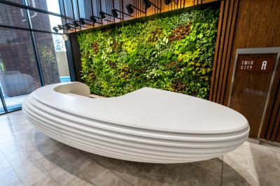 Reception desk by AMOS DESIGN