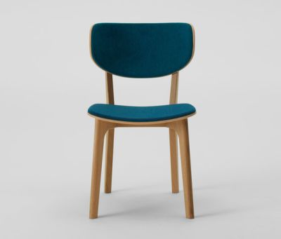 Roundish Armless Chair (Cushioned) by MARUNI