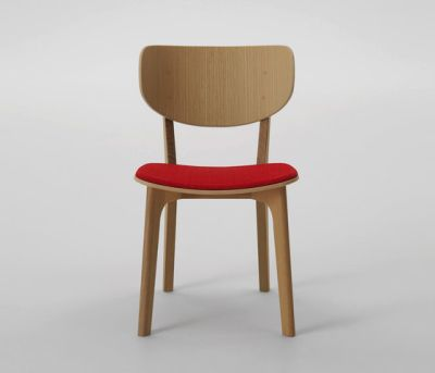 Roundish Armless Chair (Cushioned seat) by MARUNI