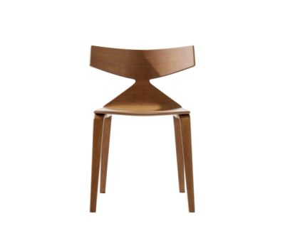 Saya Sled Base Dining Chair by Arper L0023 Wood