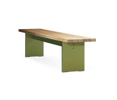 SC 43 Bench | Wood–HPL by Janua / Christian Seisenberger