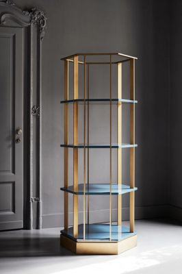 Sebastian Hexagonal bookcase by Meridiani