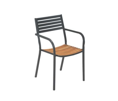 Segno Armchair With Teak Seat - Set of 4 Indian Brown