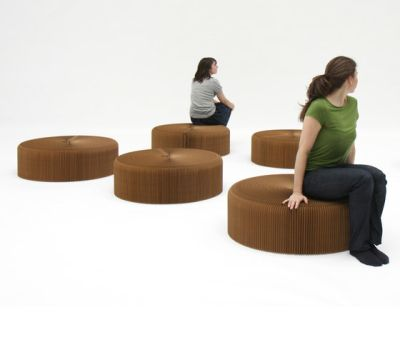 softseating | natural brown paper softseating by molo