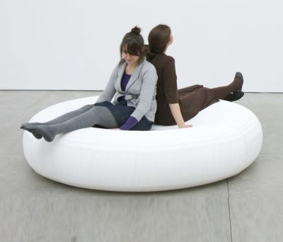 softseating | white textile lounger by molo