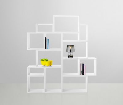 Stacked Shelf System with backboard Ash