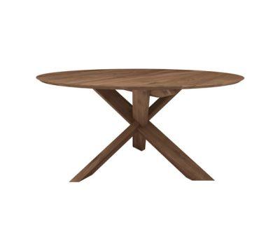 Teak circle dining table 136 x 136 x 76 cm
