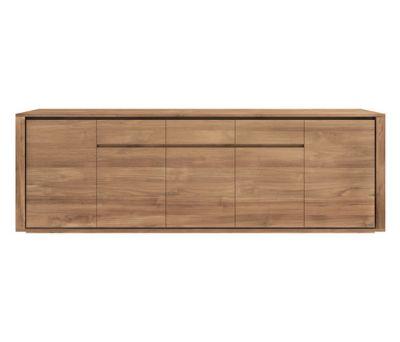Teak Elemental sideboard 257 x 45 x 85 cm