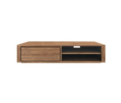 Teak Elemental TV cupboard - 1 drawer