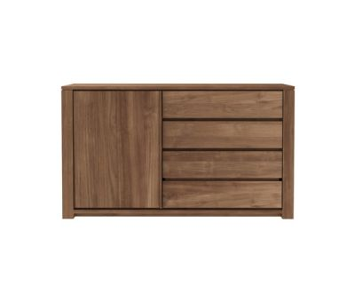 Teak Lodge sideboard - 1 opening door - 3 drawers