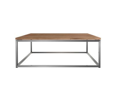 Teak Thin coffee table 100 x 100 x 35 cm