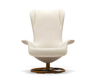 Tilt Swivel Wing Chair by Giorgetti