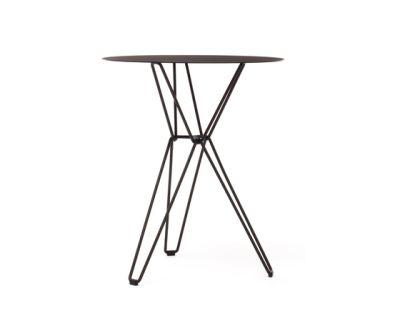 Tio Circular Café Table Metal Ø:60 H:72 cm Black - Metal