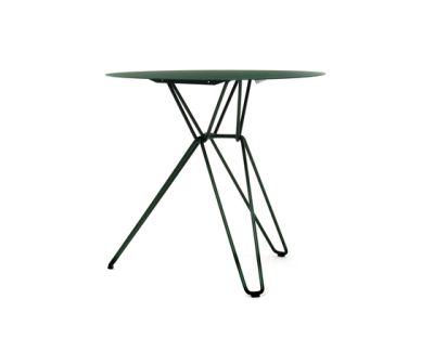 Tio Circular Café Table Metal Ø:75 H:72 cm Blue Green - Metal