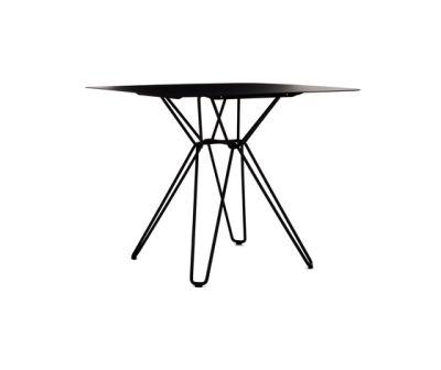 Tio Square Dining Table Metal 85 x 85 x 72 cm Black Metal