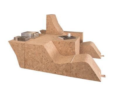 Tumble Cork Chair&Table by Movecho