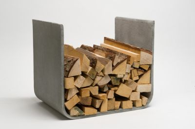 U-Board wood log holder by lebenszubehoer by stef's