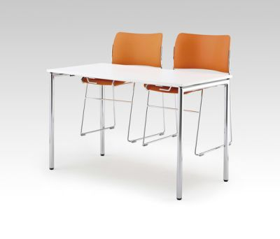 Usu table with chair hanger by HOWE