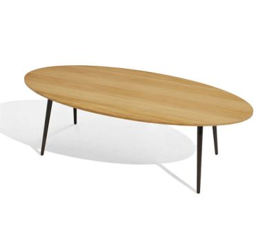 Vint low table 130x60 iroko by Bivaq