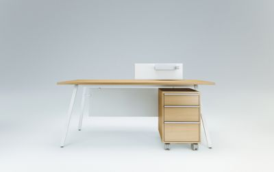 Vu Single office desk by Ergolain