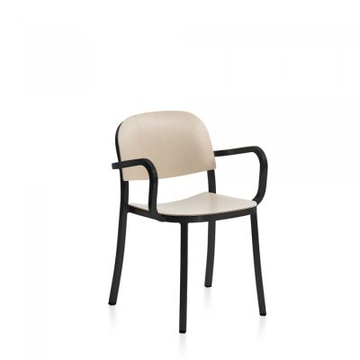 1 Inch Armchair Ash, Dark Powder Coated Aluminum