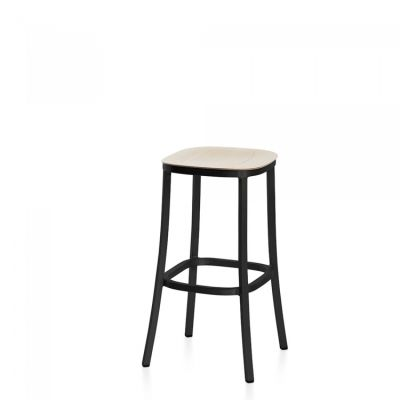 1 Inch Barstool Ash, Dark Powder Coated Aluminum