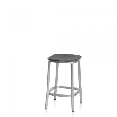 1 Inch Counter Stool Ash, Dark Powder Coated Aluminum