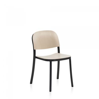 1 Inch Dining Chair Ash, Dark Powder Coated Aluminum Frame
