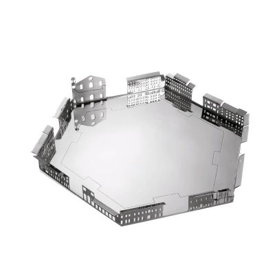 100 Piazze - Palmanova Piazza Grande Tray Silver-plated Brass