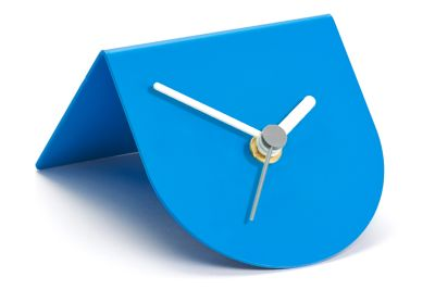1/2 Desk Clock Blue