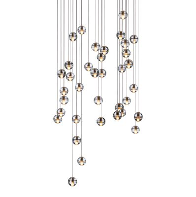 14.36 Round Pendant Chandelier Amber, LED, Wet