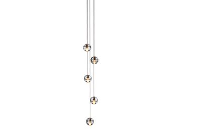 14.5 Five Pendant Chandelier Clear, LED