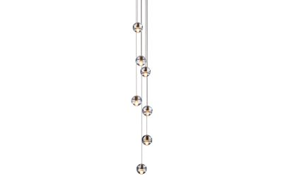 14.7 Seven Pendant Chandelier Amber, LED, Wet