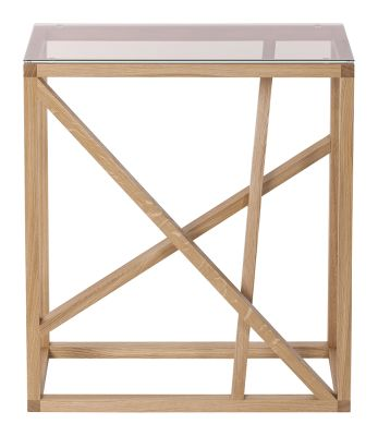 1x1 trestle console table Clear glass