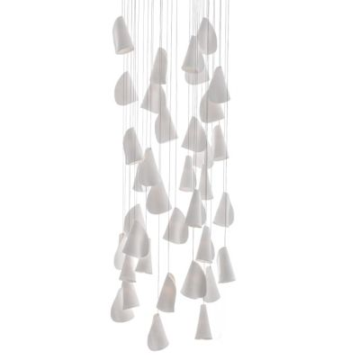 21.36 Rectangular Chandelier Grey, LED