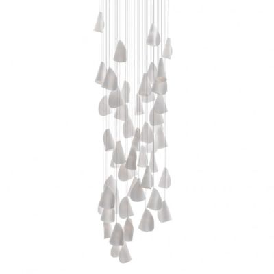 21.50 Square Chandelier Grey, LED