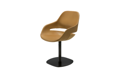 2269 Eva Armchair Swivel Base - Upholstered Leather 99