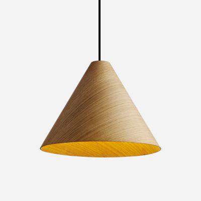 30degree Lamp Shade Natural Shade, Black Cordset, Medium
